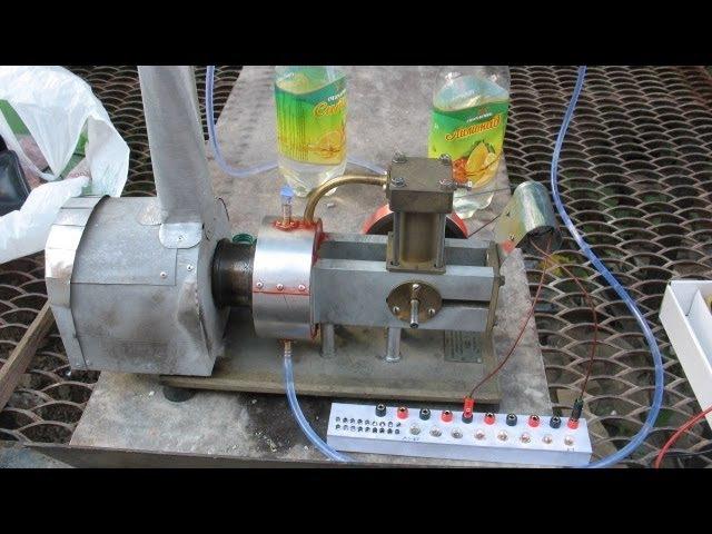 ДВИГАТЕЛЬ СТИРЛИНГА УДС-1 С ГЕНЕРАТОРОМ HOMEMADE HOT AIR STIRLING ENGINE GENERATOR