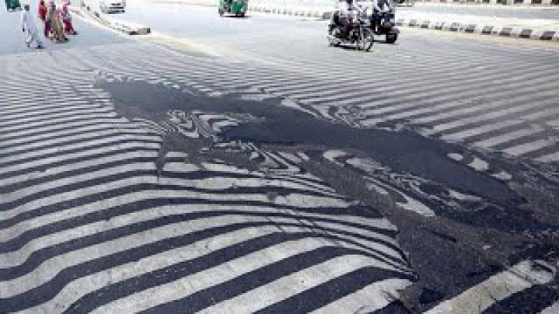Ola de calor derrite las calles de India