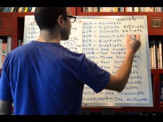 Curso de ingles 264: Los Numeros Ordinales en Ingles