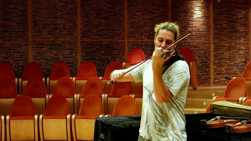 DG at Museo del Violino in Cremona trying different violins which could be the best