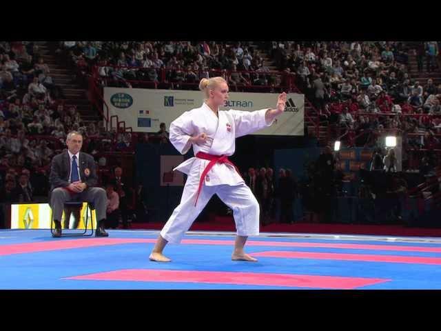 Cecillie Bjerring vs Sakura Kokumai Bronze Female Individual Kata World Karate Championships 2012