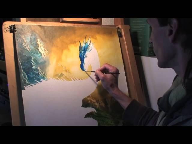 Ciruelo Cabral Paints Eragon and Saphira