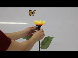 "Сувенир ""Летающая бабочка вокруг цветка"", цвета МИКС"