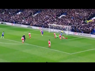 Гол Эдена Азара в ворота Арсенала