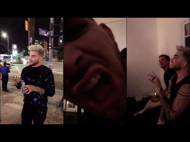 Adam Lambert on grayjoey's Snapchat 4 27 16 3 snaps