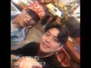  Инстаграм  170916 rapq_0103: После работы, поздним вечером, едим свинину с Минджуном