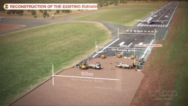 Реконструкция взлетно-посадочной полосы и пассажирского терминала в аэропорту Тамале (Гана) бразильской группой Queiroz Galvao