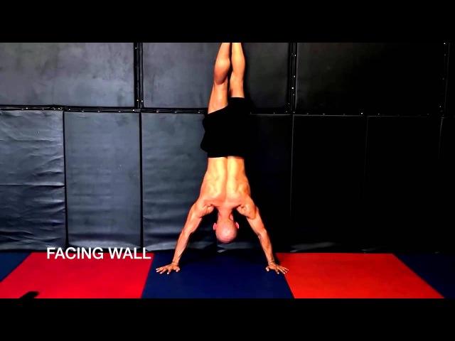 Стойка на руках у стены WALL HANDSTAND 720p