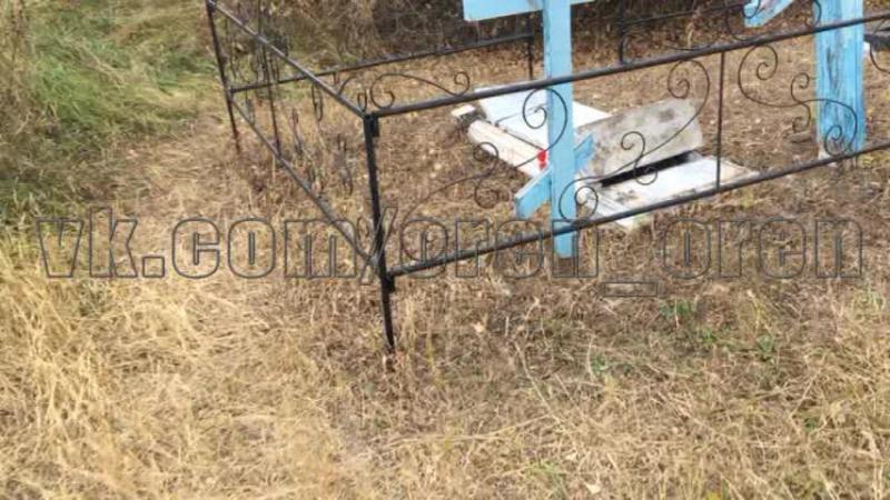 В Бузулукском районе два подростка устроили погром на сельском кладбище