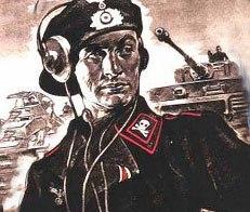 Плакат немецких танкистов