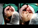 Emotional Moment Newborn Clings To Mother's Face