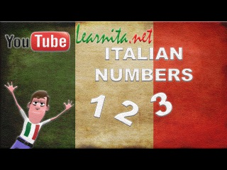 Learn Italian NUMBERS  from 1 to 20 - lesson 3