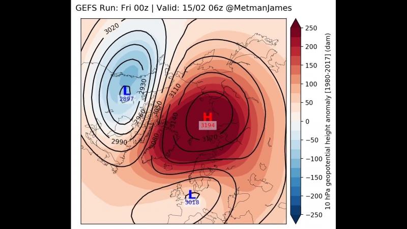 Sudden Stratospheric Warming 02 2018
