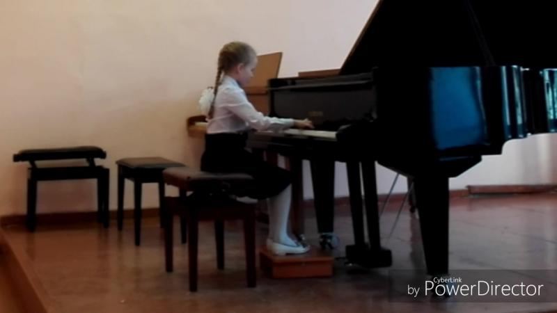 Татьяна Федоровцева 1класс, 2 четверть (занимается на фортепиано пол - года)