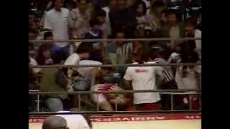 4a. Etsuko Mita, Mima Shimoda vs. Kaoru Ito, Momoe Nakanishi (7.11.1997) - Clipped