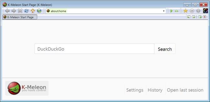 K-Meleon браузер на старый ПК