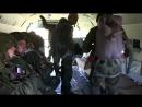 Прыжки с парашютом морских пехотинцев ТОФ с многоцелевого вертолёта Ми-8