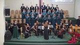 Хор 2й московской церкви и оркестр исполняют произведения Карла Дженкинса (Karl Jenkins).