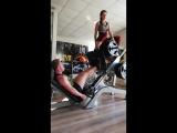 Жим ногами 300кг + Линда Рамхина(50кг)20