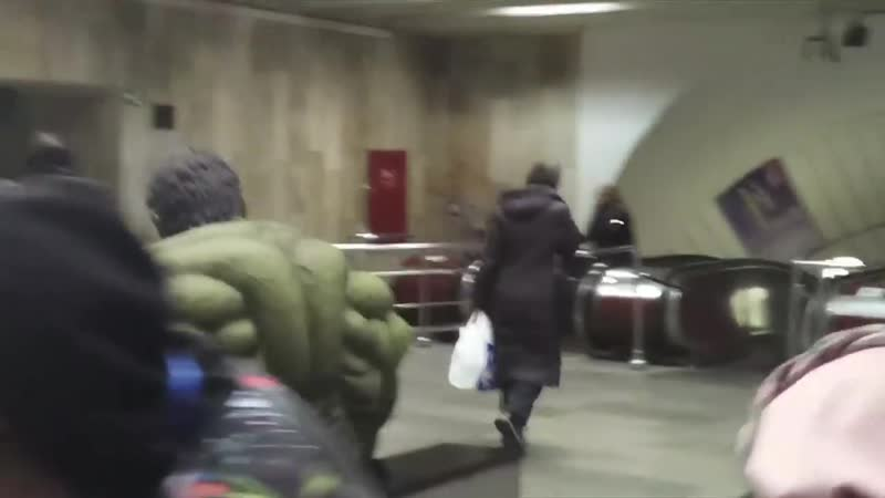 Халк в киевском метро