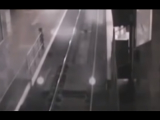 Ghost train caught on cctv at baotou railway station, china