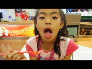 Reaction to Dairy Queen Ice Cream Vanila with chocolate coated sweet Cone