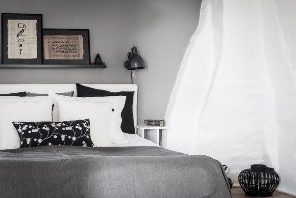 Скандинавское настроение в интерьере уютного «чердака»