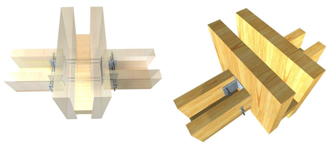 Металлические фитинги для соединения многослойных деревянных конструкций Arauco