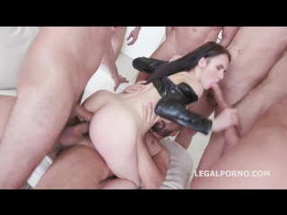 7on1 double anal gangbang with crystal greenvelle