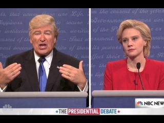 Alec Baldwin Helps SNL Re-Create Trump-Hillary Debate Pretty Much Exactly FuLL Speech