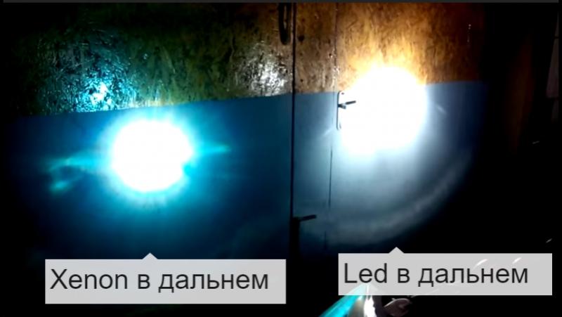 Сравнение Led ламп и ксенона