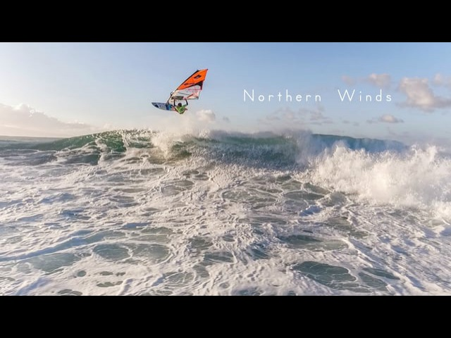 Northern winds - Windsurfing by drone