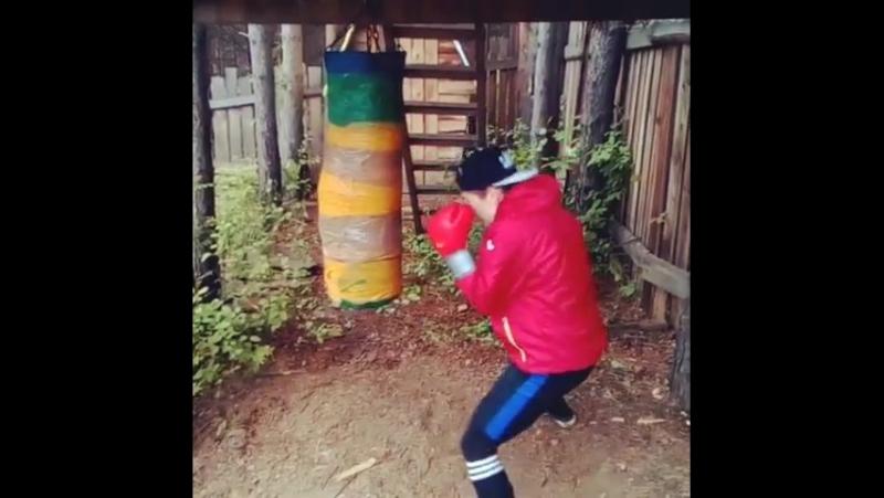 Тренировка.Бокс.Бой с тенью.Работа на мешке боксерском.