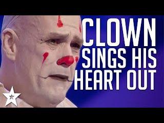 Sad Clown Stuns Crowd with Sia's Chandelier on America's Got Talent 2017   Got Talent Global