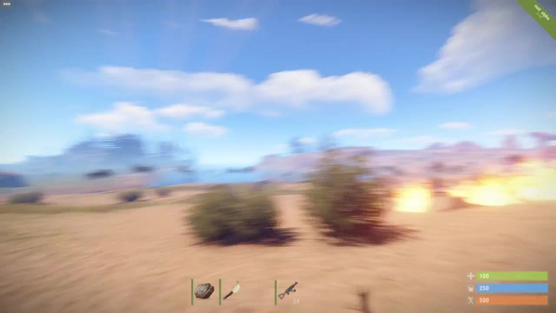 Rust Mod Advanced Airstrike - Standard Squad Spectre Napalm strikes using rocke