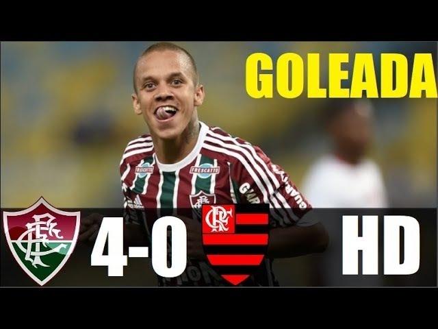 Fluminense 4 x 0 Flamengo - GOLEADA DO TRICOLOR - Melhores Momentos - Taça RIO 24/02/2018