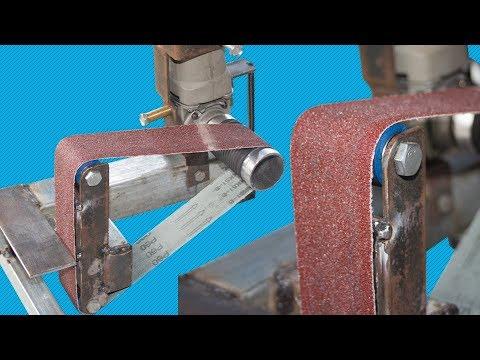 Belt Sander Using Angle Grinder Diy
