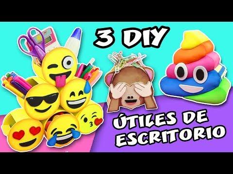 3 DIY EMOJIS DE ESCRITORIO - REGRESO A CLASES - ORGANIZADORES ÚTILES ESCOLARES | Manualidades aPasos