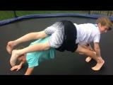Bare Feet Boys Do Yoga Challenge