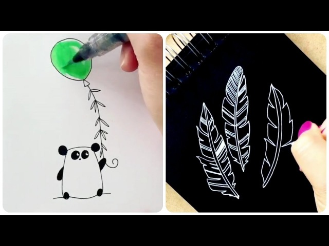Simple drawings! IT can draw almost EVERYONE! 🌺 Most Amazing Art videos. Painting tutorial 3 😉