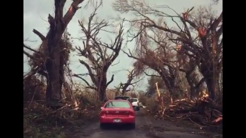 Последствия прохождения урагана Мария на острове Санта-Крус (Виргинские острова, сентябрь 2017)