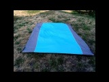 Outdoor Sand Free Beach Picnic Blanket, Portable Quick Drying Ripstop Nylon Blankets  9 x 7 2 For
