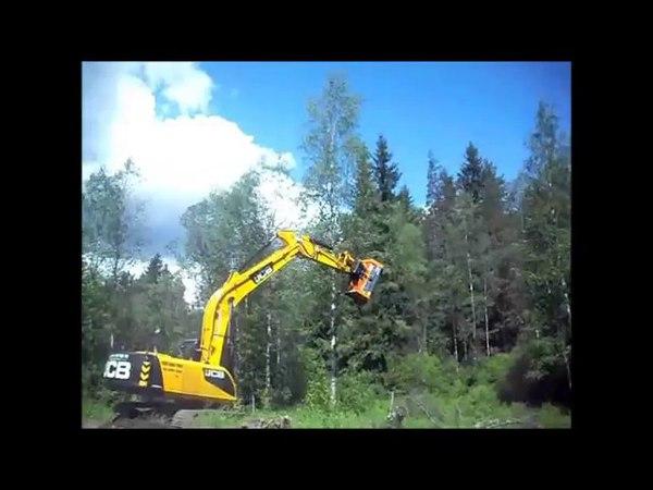 мульчер FERRI THFP F 160 экскаватор JCB роторный измельчитель деревьев