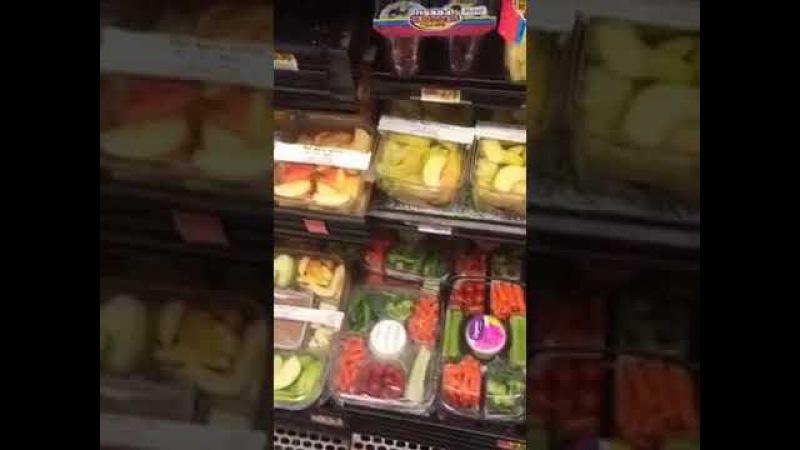 Америка США Магазин Продуктов Walmart перескоп