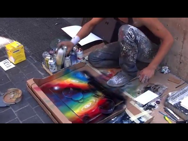Удивительный художник на улицах Рима/Amazing artist on the streets of Rome