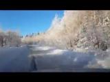 Сказочная зима на дорогах Пермского края