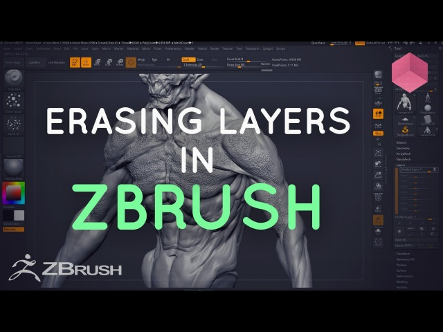 Erasing from Layers in ZBrush