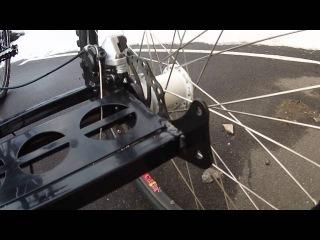 Взрослый грузовой трехколесный электровелосипед с мостом