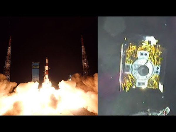 PSLV-C41IRNSS-1I launch spacecraft separation (onboard camera view)