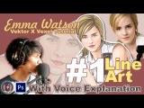 Vector x Vexel Art Tutorial #1 Line Art (Emma Watson) With Voice Explanation